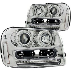 111131 Anzo Headlight Lamp Driver And Passenger Side New For Chevy Lh Rh Chevrolet