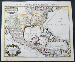 1722 G. Delisle And Covens And Mortier Antique Map Of North America - State 5 Rare