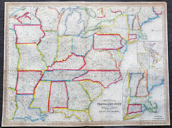 1856 Mitchell Large Antique Pre Civil War Map United States Of America Gold Rush