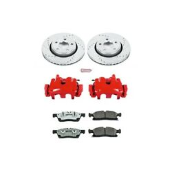 Kc5951-26 Powerstop Brake Disc And Caliper Kits 2-wheel Set Front For Jeep Dodge