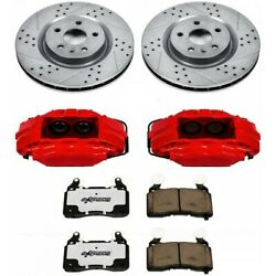 Kc1678-26 Powerstop Brake Disc And Caliper Kits 2-wheel Set Front Coupe