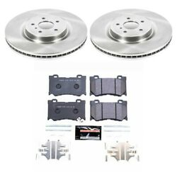 Tdsk2915 Powerstop Brake Disc And Pad Kits 2-wheel Set Front New For Nissan 350z