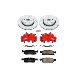 Kc5951 Powerstop 2-wheel Set Brake Disc And Caliper Kits Front For Jeep Durango