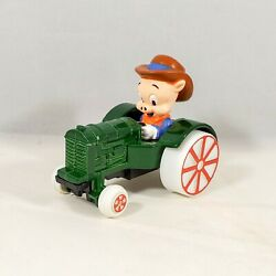Vintage Ertl Porky Pig On A Green Tractor Looney Tunes Diecast Toy Car 1988 2702