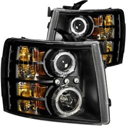 111200 Anzo Headlight Lamp Driver And Passenger Side New For Chevy Lh Rh Chevrolet