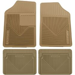 Set-h2151053-4 Husky Liners Set Of 4 Floor Mats Front New Tan For Chevy Le Sabre