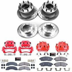 Kc2868a Powerstop Brake Disc And Caliper Kits 4-wheel Set Front And Rear For Ford