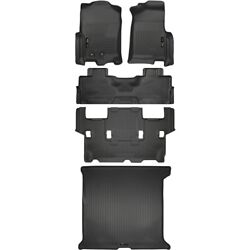 Set-h2118371-5 Husky Liners Set Of 5 Floor Mats Front New Black For Expedition