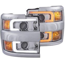 111366 Anzo Headlight Lamp Driver And Passenger Side New For Chevy Lh Rh Chevrolet