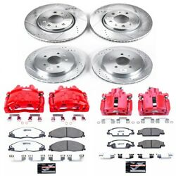 Kc1424-26 Powerstop 4-wheel Set Brake Disc And Caliper Kits Front And Rear New