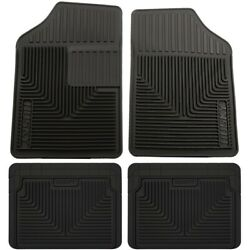 Set-h2151051-4 Husky Liners Floor Mats Set Of 4 Front New Black For Chevy 300
