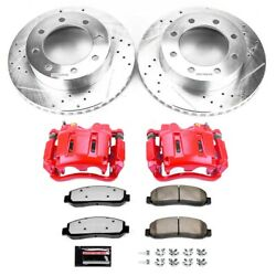 Kc1781-36 Powerstop Brake Disc And Caliper Kits 2-wheel Set Front For F250 Truck