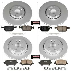 Crk5703 Powerstop Brake Disc And Pad Kits 4-wheel Set Front And Rear New For Xc60