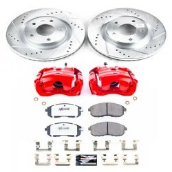 Kc6094-26 Powerstop Brake Disc And Caliper Kits 2-wheel Set Front New For Sentra