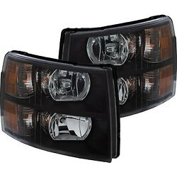 111393 Anzo Headlight Lamp Driver And Passenger Side New For Chevy Lh Rh Chevrolet
