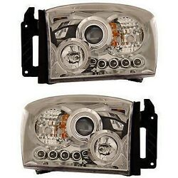 111103 Anzo Headlight Lamp Driver And Passenger Side New For Ram Truck Lh Rh 1500