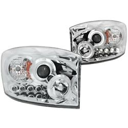 111210 Anzo Headlight Lamp Driver And Passenger Side New For Ram Truck Lh Rh 1500