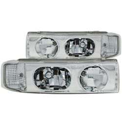111001 Anzo Headlight Lamp Driver And Passenger Side New For Chevy Lh Rh Astro Gmc