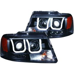 111288 Anzo Headlight Lamp Driver And Passenger Side New For F150 Truck Lh Rh Ford