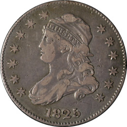 1825/4/2 Bust Quarter Close Date Browning 2 Choice Vf/xf Great Eye Appeal