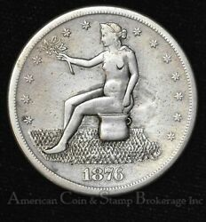 1 One Dollar 1876 S Trade Silver Potty Dollar Well Done
