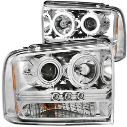 111118 Anzo Headlight Lamp Driver And Passenger Side New For F250 Truck F350 Lh Rh