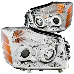 111094 Anzo Headlight Lamp Driver And Passenger Side New Lh Rh For Nissan Titan