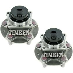 Set-tmha590096 Timken Set Of 2 Wheel Hubs Front Driver And Passenger Side New Pair