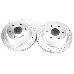 Ar8645xpr Powerstop Brake Discs 2-wheel Set Rear Driver And Passenger Side New