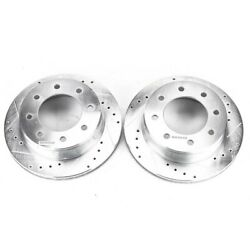 Ar8643xpr Powerstop Brake Discs 2-wheel Set Rear Driver And Passenger Side New