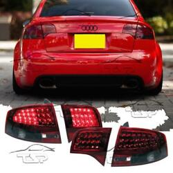 Rear Tail Led Light Smoke-red For Audi A4 B7 04-08 Saloon New Lamps A4