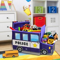 Toy Storage Box Light up LED#x27;s toy organizer police police car KAP
