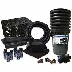 Pond Free 10000 Waterfall Kit 10000 Gph Pump 15and039 X 30and039 Pvc Liner Tgpvctpmthb4