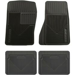 Set-h2151071 Husky Liners Floor Mats Front New Black For Chevy Olds S10 Pickup