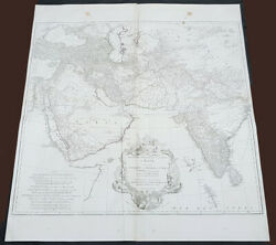 1751 D Anville Large Antique Map Of West Asia - Saudi Arabia, Persia And India