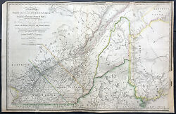 1839 Wyld Large Antique Map Provinces Of Lower Canada, Ontario St Lawrence River