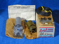 1962 Buick Complete Accessory Trunk Lid Release Nos