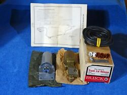 1963 Buick Complete Accessory Trunk Lid Release Nos