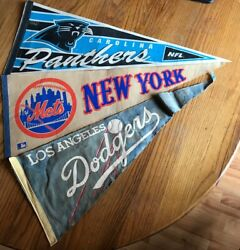 Vintage Pennant Lot Used  Dodgers  Mets  Panthers