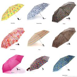 NEW Totes Auto Open Compact Folding Umbrellas Choose from 40 Designs