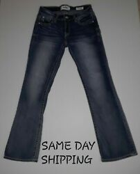 Daytrip Jeans Virgo Bootcut Rhinestone Accent 25s Bling 28x28 Euc Ships In 24hrs