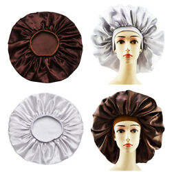 Salon XL Adjustable Long Hair Care Unisex Cap Satin Bonnet Night Sleeping Cap