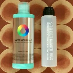 1x Mtn Water Based 200ml Paint Refill - Any Colour + 90ml Street Dabber Empty
