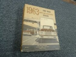 1963 Ford H950 H1000 Tandem Tractor Truck Parts And Accessories Catalog Manual