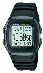 Casio W96h-1bv 50 Meter Wr Chronograph Watch Alarm 10 Year Battery Date