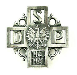Ww2 Polish Badge Of Internment 2nd Rifle Division Poland Army 2 Dsp