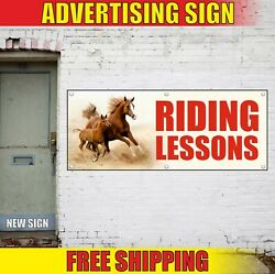 Riding Lessons Banner Advertising Vinyl Sign Flag Equestrian Horse School Trains