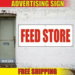 Feed Store Banner Advertising Vinyl Sign Flag Food Deli Shop Grocery Open 24 Hrs