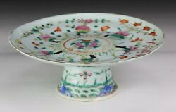 A Chinese Antique Famille Rose Porcelain Stem Plate