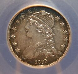 1835 Capped Bust Quarter 25andcent B-5 Late Die State - Cracked Die Xf Id Sct405
